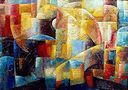 Oil painting reproduction of Abstract357