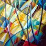 Oil painting reproduction of Abstract358