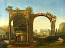 Click to Roman Ruins oil painting reproduction gallery