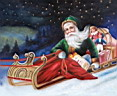 Click to Father Christmas oil painting reproduction gallery