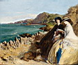 Oil painting reproduction of By the Seaside