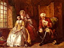 Oil painting reproduction of The Bashful Lover