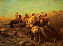 Oil painting reproduction of Arabian Horsemen Near A Watering Place
