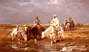Oil painting reproduction of Arabs Watering Their horses