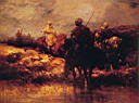 Oil painting reproduction of Arabs on Horseback
