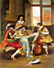 Oil painting reproduction of The Musical Trio