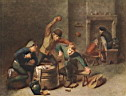 Oil painting reproduction of Brawling Peasants