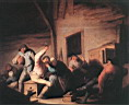 Oil painting reproduction of Carousing Peasants In A Tavern