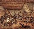 Oil painting reproduction of Feasting Peasants In A Tavern