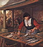Oil painting reproduction of The Fishwife