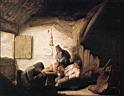 Oil painting reproduction of Village Tavern With Four Figures