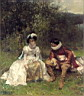 Oil painting reproduction of The Courtship