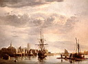 Oil painting reproduction of View Of Dordrecht
