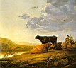 Oil painting reproduction of Young Herdsman With Cows