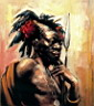 Oil painting reproduction of Africanist006