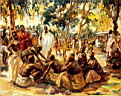 Oil painting reproduction of Africanist138