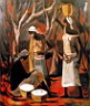 Oil painting reproduction of Africanist143
