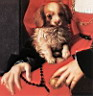 Oil painting reproduction of Portrait of a Lady with a Puppy detail