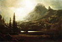 Oil painting reproduction of By a Mountain Lake
