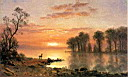 Oil painting reproduction of Sunset c.1868