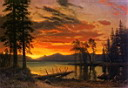 Oil painting reproduction of Sunset over the River