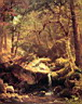 Oil painting reproduction of The Mountain Brook 1863