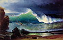 Oil painting reproduction of The Shore of the Turquoise Sea 1878