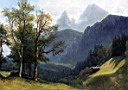 Oil painting reproduction of Tyrolean Landscape 1868