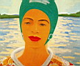 Oil painting reproduction of Alex Katz002