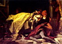Oil painting reproduction of The Death of Francesca de Rimini and Paolo Malatesta 1870