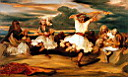 Oil painting reproduction of Albanian Dancers
