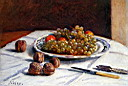 Oil painting reproduction of Grapes And Walnuts On A Table