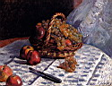 Oil painting reproduction of Still Life Apples And Grapes