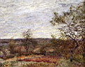 Oil painting reproduction of Windy Day At Veneux