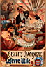 Oil painting reproduction of Biscuits Champagne-Lefevre-Utile 1896 35.5x52cm