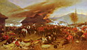Oil painting reproduction of The Defence Of Rorkes Drift