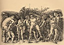 Oil painting reproduction of Bacchanal with Silenus