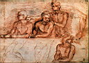 Oil painting reproduction of Last Supper study WGA