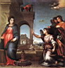Oil painting reproduction of The Annunciation WGA