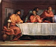 Oil painting reproduction of The Last Supper detail2 WGA