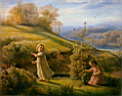 Oil painting reproduction of le_printemps