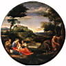 Oil painting reproduction of Rest on Flight into Egypt WGA