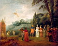 Oil painting reproduction of Antoine Watteau007