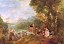 Oil painting reproduction of Antoine Watteau008