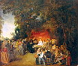 Oil painting reproduction of Antoine Watteau015