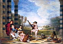 Oil painting reproduction of Antoine Watteau017