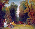 Oil painting reproduction of Antoine Watteau022