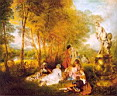 Oil painting reproduction of Antoine Watteau024