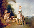 Oil painting reproduction of Antoine Watteau028