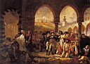 Oil painting reproduction of Bonaparte Visiting the Pesthouse in Jaffa